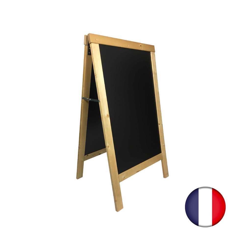 Chevalet stop trottoir avec cadre bois couleur rustic clair dimensions 127x75 cm (photo)