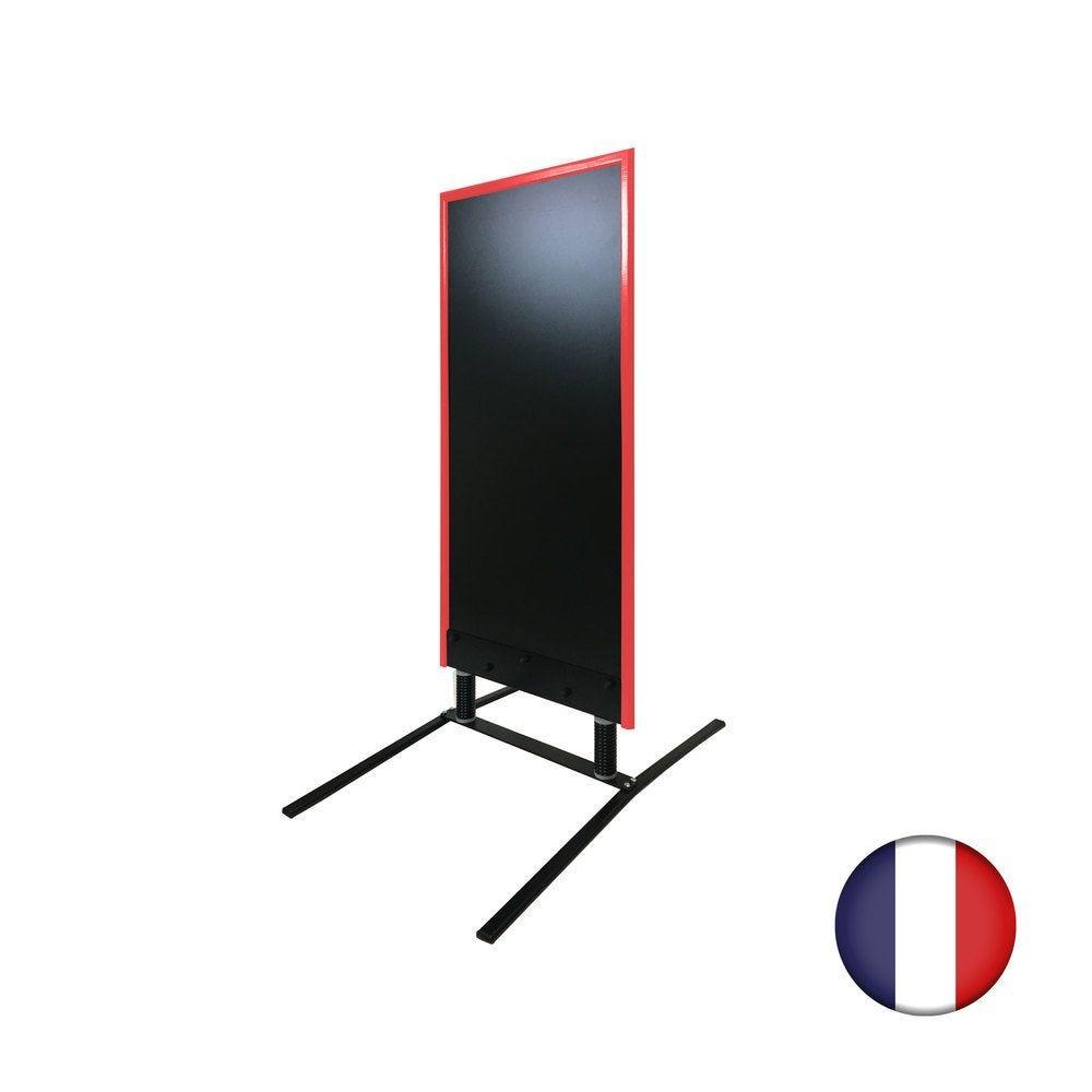 Panneau trottoir grande taille sur ressorts cadre rouge vin - Fabrication FR