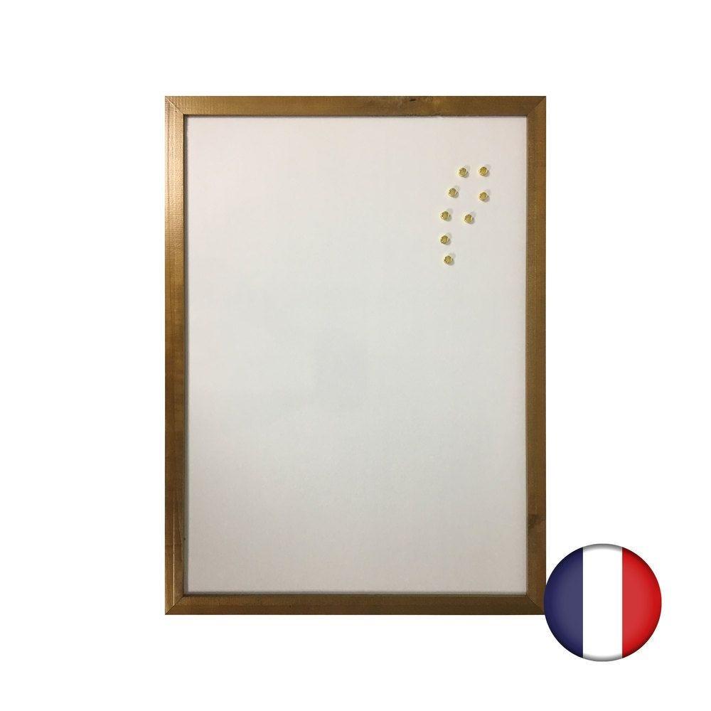 Ardoise couleur chêne avec Recto ardoise et Verso blanc effaçable magnétique