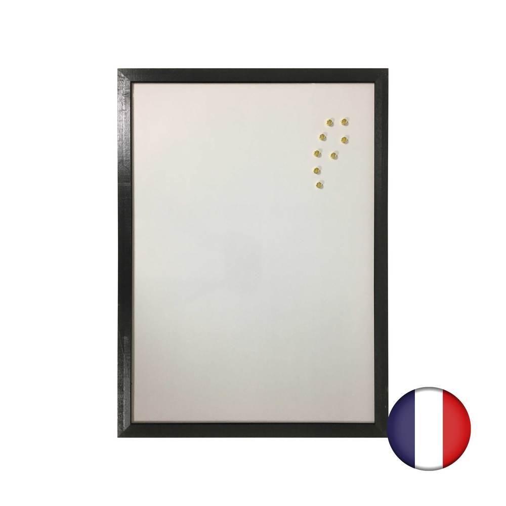 Ardoise couleur noir avec Recto ardoise et Verso blanc effaçable magnétique