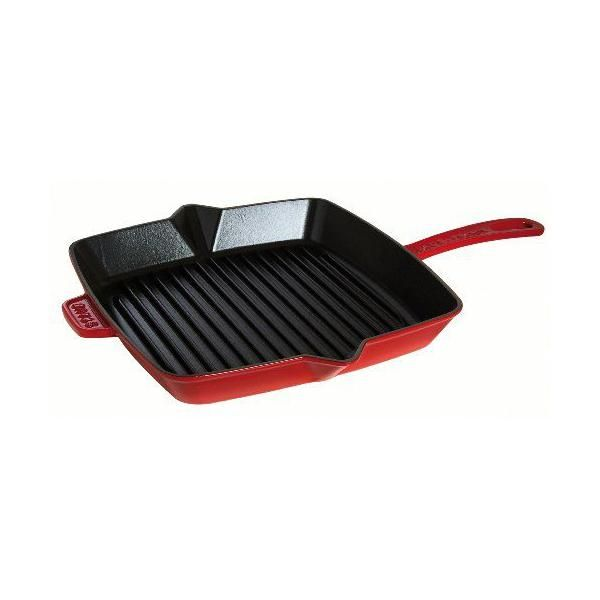 Grill american - cerise - 26 x 26 cm - staub (photo)