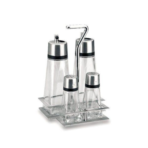 Ménagère de table hyper luxe 4 pièces avec socle - lacor