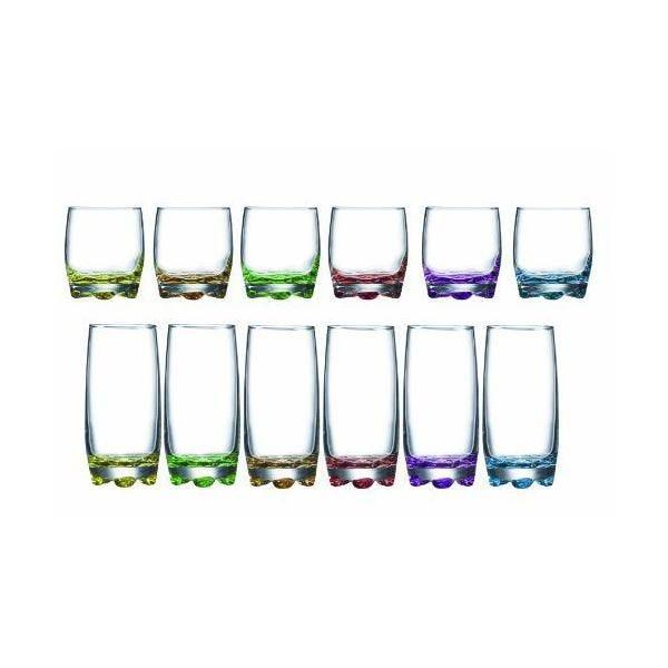 6 gobelets forme basse 27 cl + 6 gobelets forme haute 37 cl - adora - luminarc (photo)