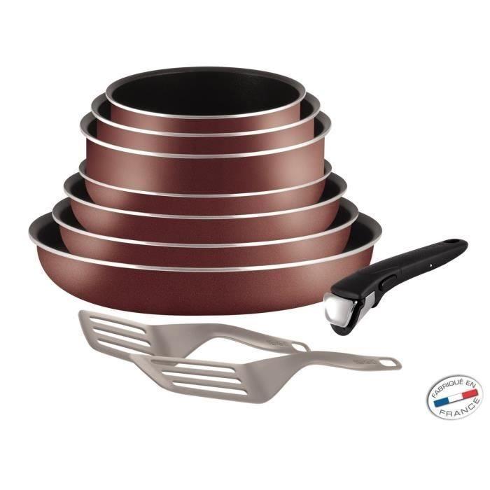 Pièces en aluminium rouge velours - ingenio 5 - tefal - set de 10
