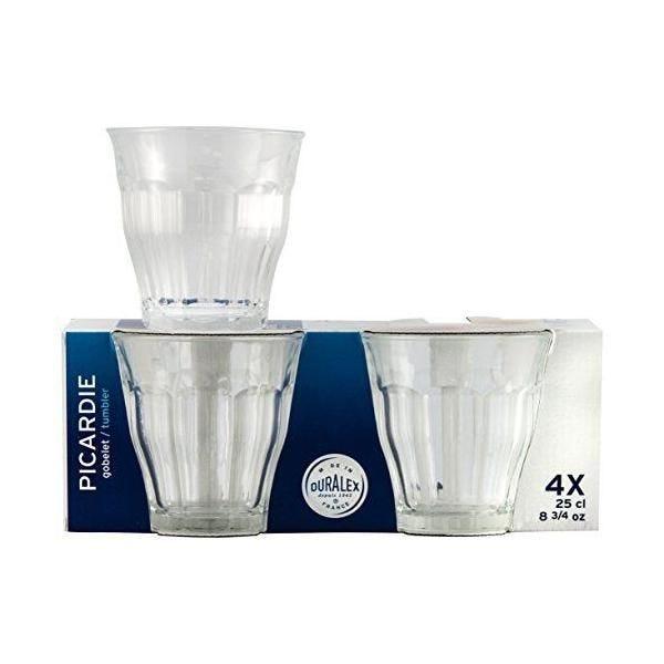 Boîte de 4 gobelets verre transparent 25 cl - picardie - duralex (photo)