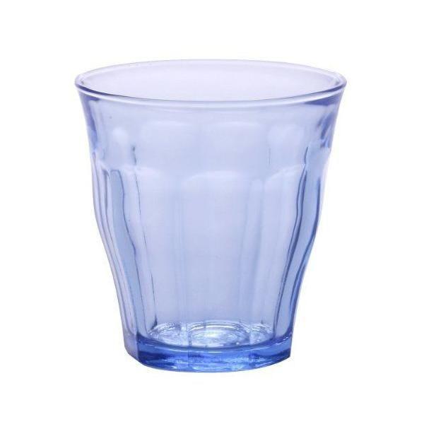 Boîte de 4 gobelets verre marine transparent 22 cl - picardie - duralex (photo)