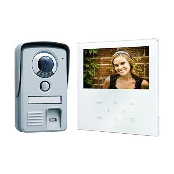 Portier vidéo couleur écran plat tactile noir - smartwares (photo)