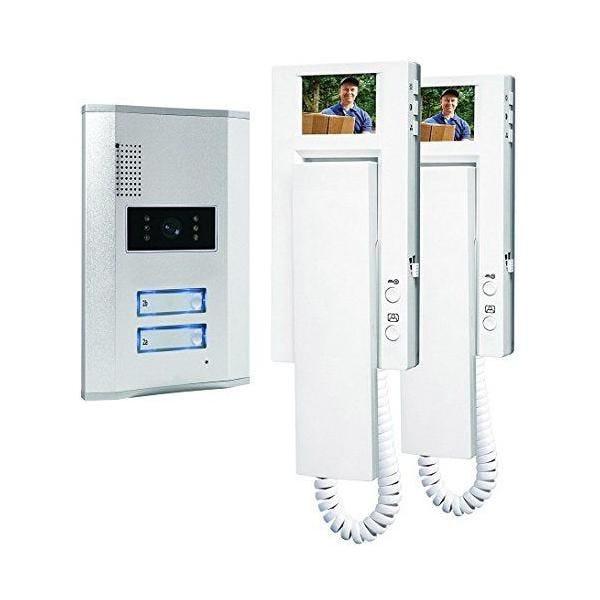 Portier vidéo couleur/visiophone/interphone vidéo 2 combinés - smartwares (photo)