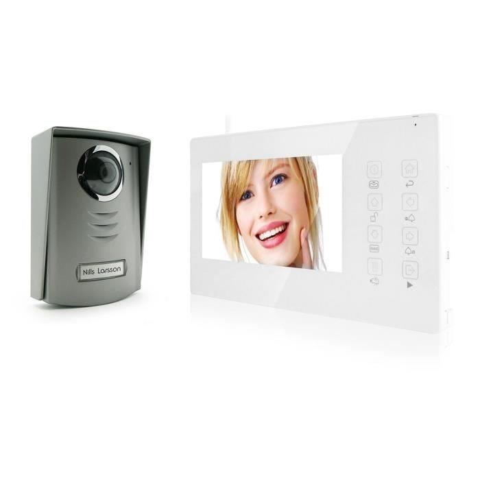 Interphone vidéo couleur sans fil 7 pouces - avidsen (photo)