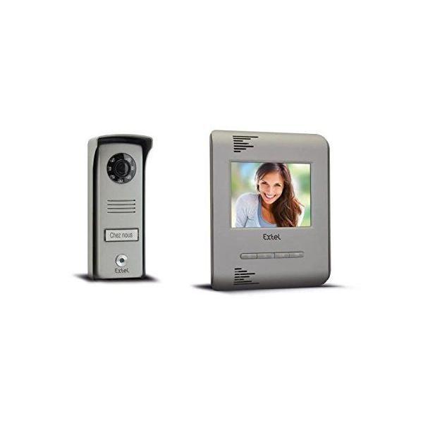 Visiophone couleur avec 2 fils/moniteur 4 pouces 10 cm - extel (photo)
