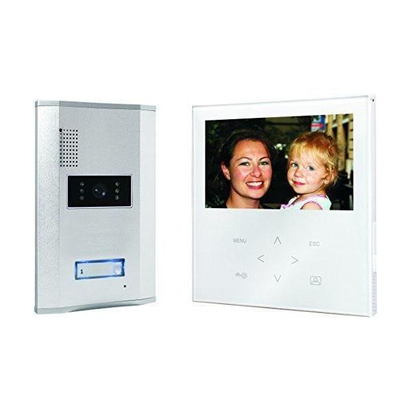 Portier vidéo couleur écran plat tactile blanc - smartwares (photo)