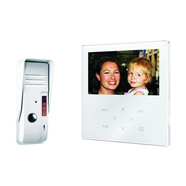 Portier vidéo couleur écran plat tactile coloris blanc - smartwares (photo)