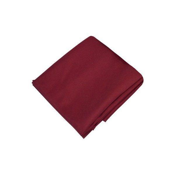 Nappe antitache lisse waterproff rond polyester lie de vin 180 cm-pradel premium (photo)