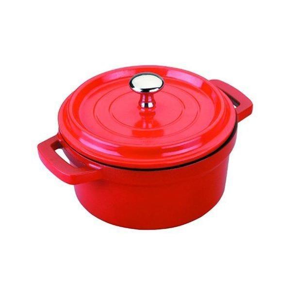 Cocotte en fonte d'aluminium rouge 14 cm - lacor