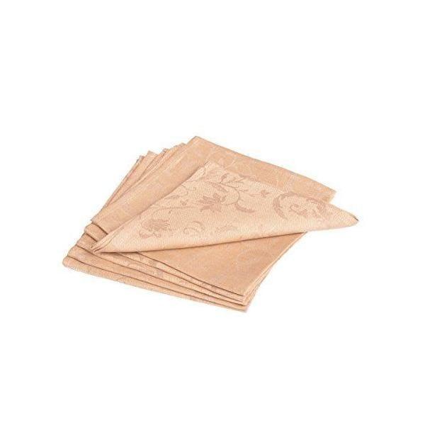 6 serviettes de table beige/couleur 45x45 cm - minija jacquard - vaitkute (photo)