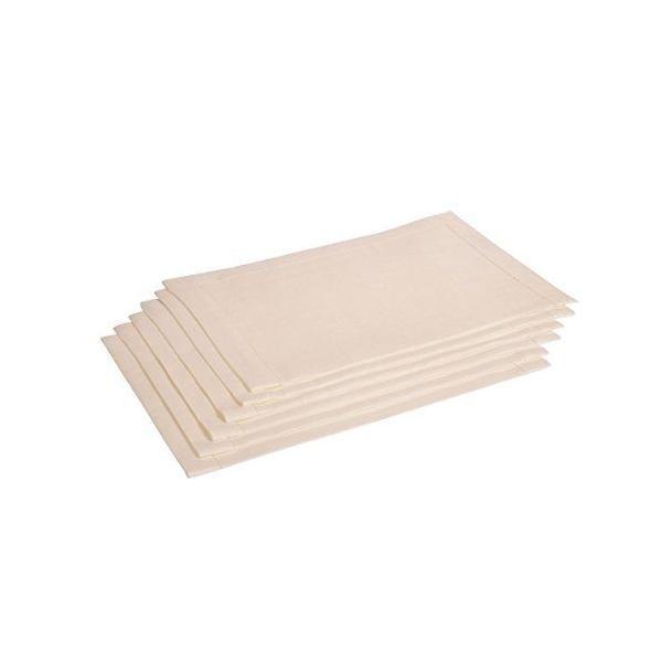 6 serviettes de table pur lin  blanc cassé 38x50 cm - alanta - vaitkute (photo)