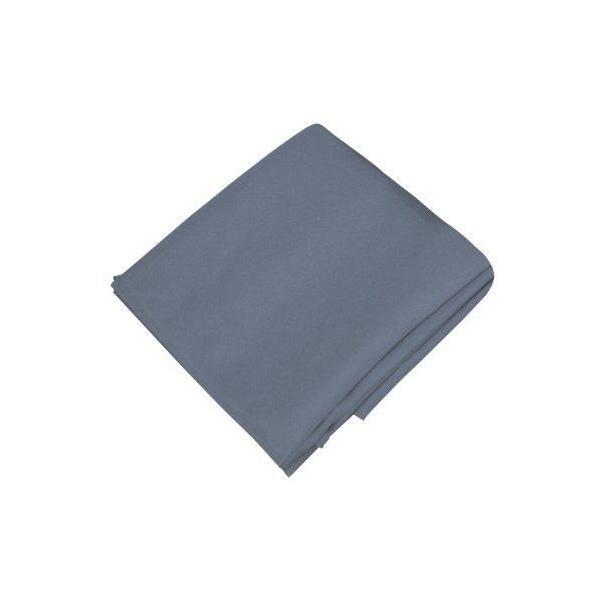 Nappe antitache lisse waterproff rond polyester gris 180 cm - pradel premium (photo)