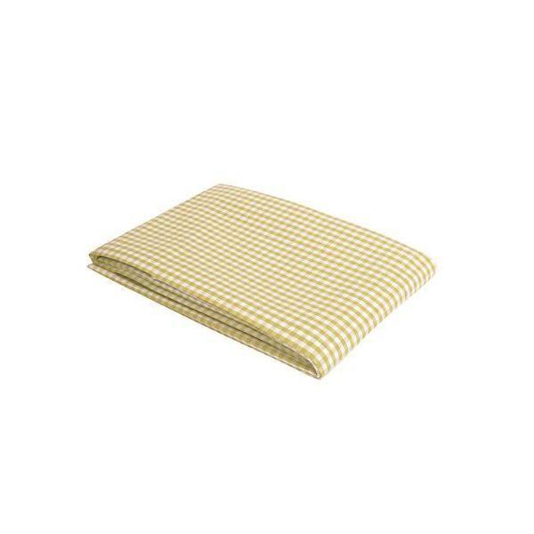 Nappe à carreaux coins biseau vichy blanc & vert 140x140 cm - vaitkute (photo)