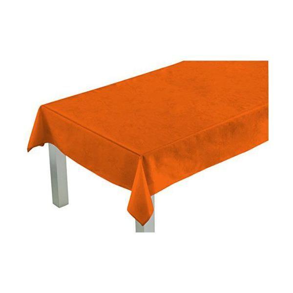 Nappe carrée orange 180x180x0,5 cm - comptoir du linge (photo)