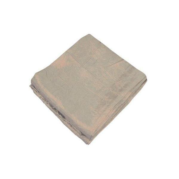 Nappe antitache froissé waterproff rond polyester crème 180 cm - pradel premium (photo)