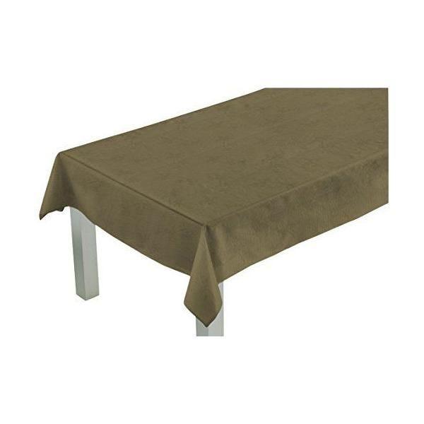Nappe carrée taupe 180x180x0,5 cm-comptoir du linge (photo)
