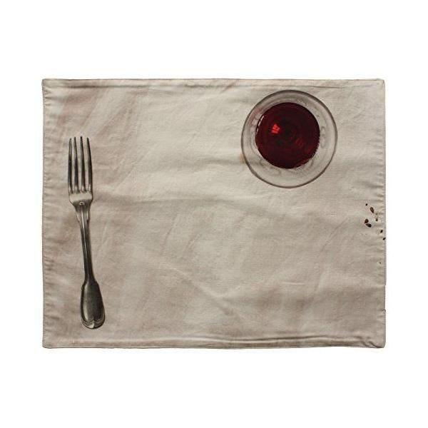 Set de table coton gris/multicolore 30x40x0,2 cm - daycollection (photo)