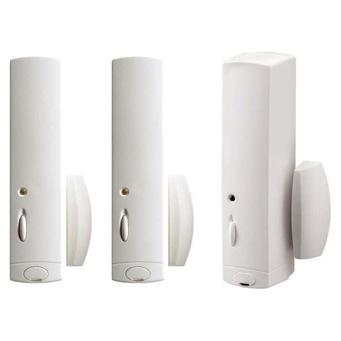 Lot de 3 détecteurs d'ouverture - diagral (photo)