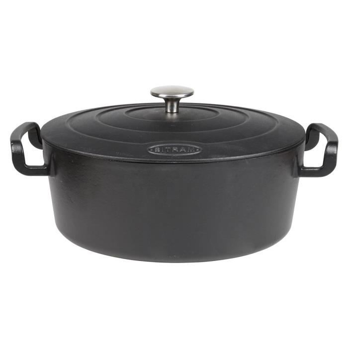 Cocotte en fonte 6,5 l noir ø 20 cm - sitrabella - sitram