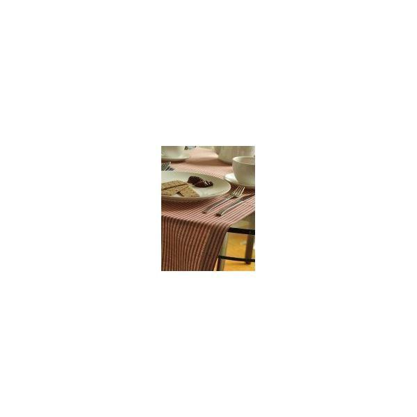 Chemin de table jazz en lin 40cmx150cm coton rouge - linenme (photo)