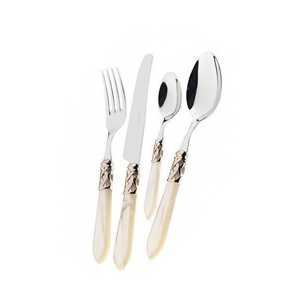 Lot de 2 pièces service de salade acier/abs ivoire 30,5x14x3 cm-aladdin- bugatti (photo)