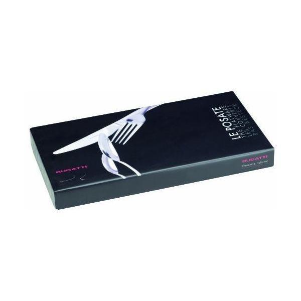 Ménagère 24 pièces table acrylique/ transparent 39x27x5 cm - aladdin - bugatti