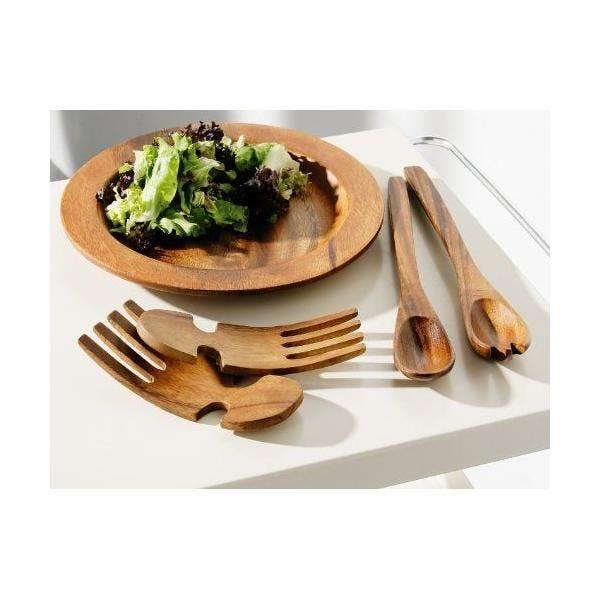 Couvert à salade en bois d'acacia - kyoto socorro- premier housewares (photo)