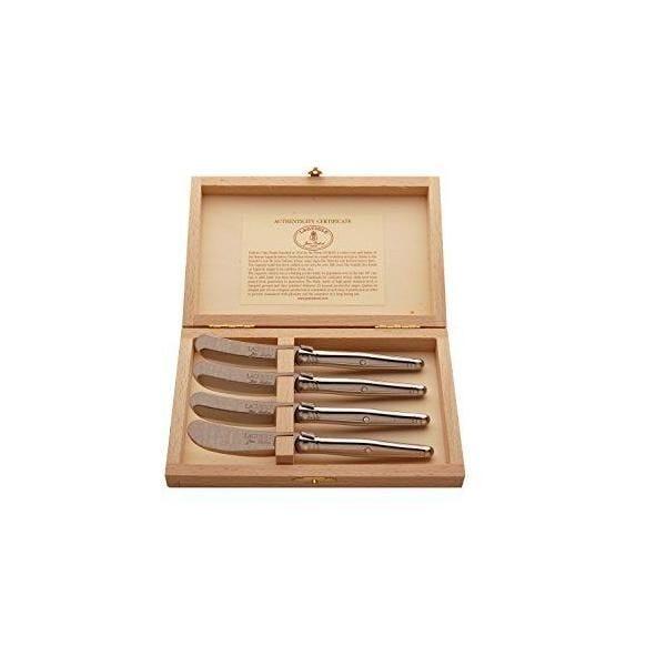 Ménagère avec 4 couteaux à beurre - acier - laguiole