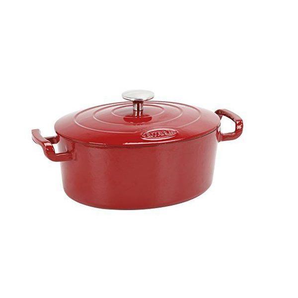 Cocotte ovale fonte rouge 4 l - sitram