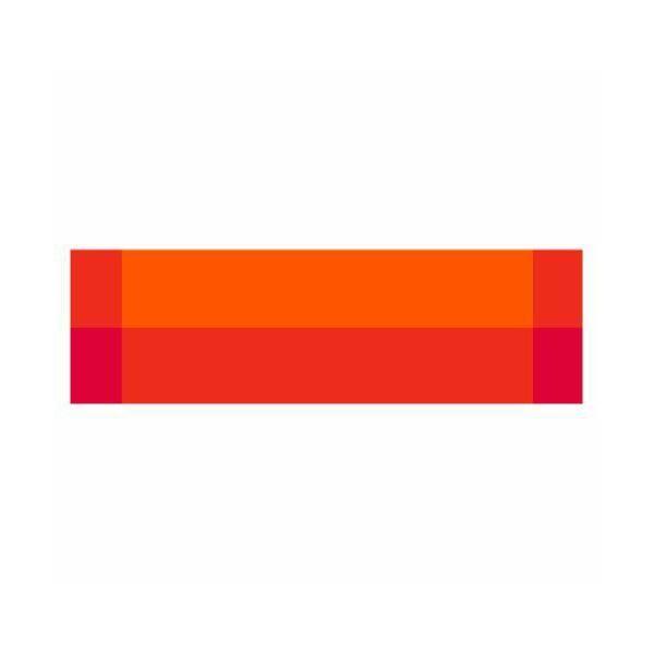 Chemin de table vinyle orange - zarah - contento (photo)