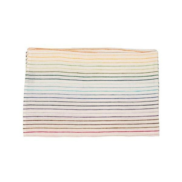 Chemin de table en lin 45x229 cm multicolore - linenme (photo)