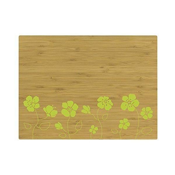 Set de table motif fleur bambou vert 40x30x10 cm - tabeo - contento (photo)