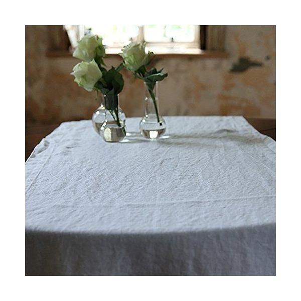 Chemin de table en lin 50x170 cm lavé blanc optique - linenme (photo)