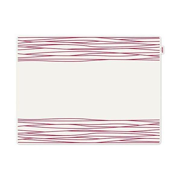 Set de table motif strip plastique rouge 40x30x10 cm - jay - contento (photo)