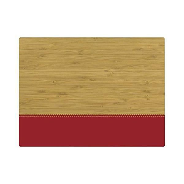 Set de table motif fleur bambou rouge 40x30x10 cm - tabeo - contento (photo)