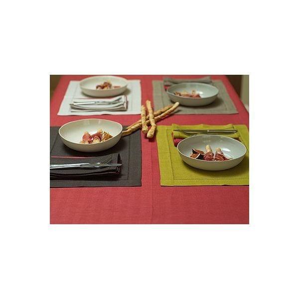 Nappe en lin 140x229 cm orange sanguine - emilia - linenme (photo)