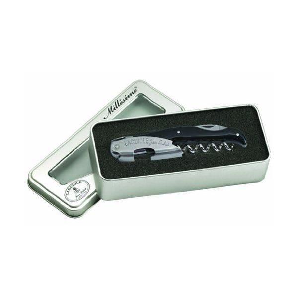 Tire-bouchon en boîte cadeau métal abs soft touch noir - laguiole jean dubost (photo)