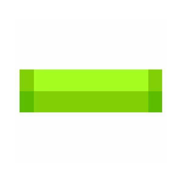 Chemin de table vert anis vinyle dimensions 150x45 cm - zarah - contento (photo)
