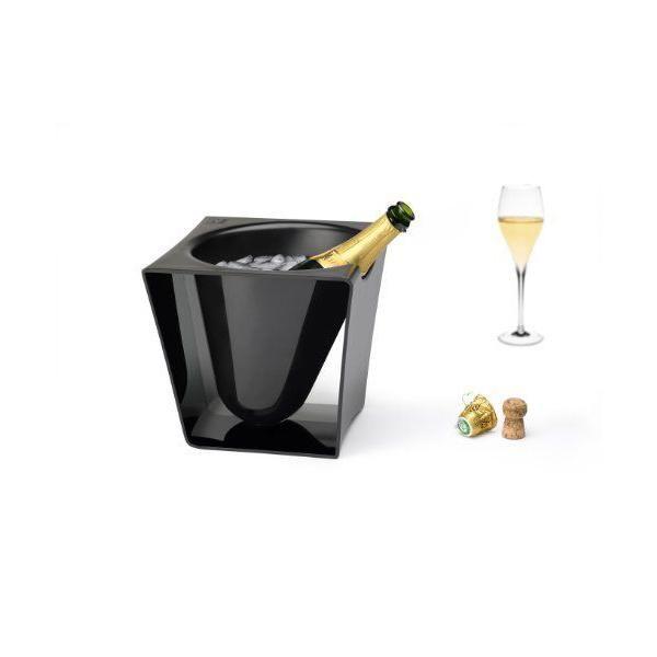Seau à champagne abs noir - equinoxe - peugeot saveurs (photo)