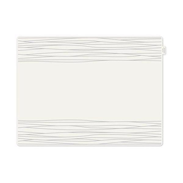Set de table motif strip plastique gris 40x30x10 cm - contento (photo)