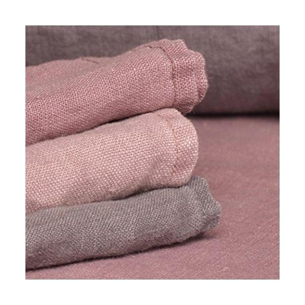 6 serviettes de table pur lin simple gris anthracite 43x43 cm-ruta-vaitkute (photo)