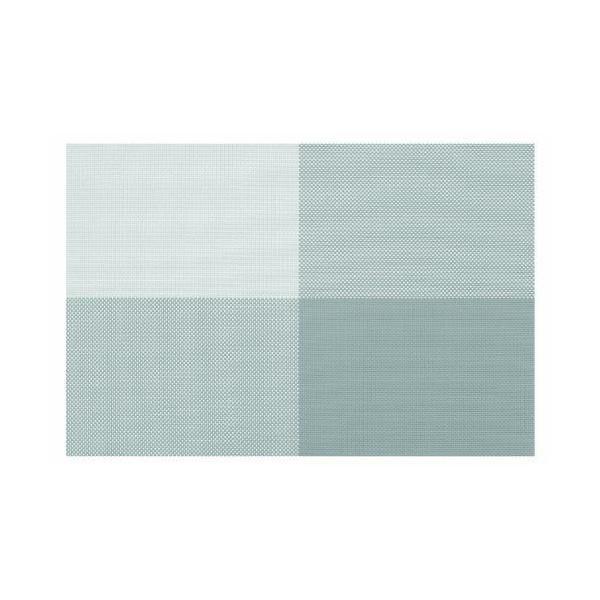 Set de table rectangulaire plastique gris 45x30x10 cm - zarah contento (photo)