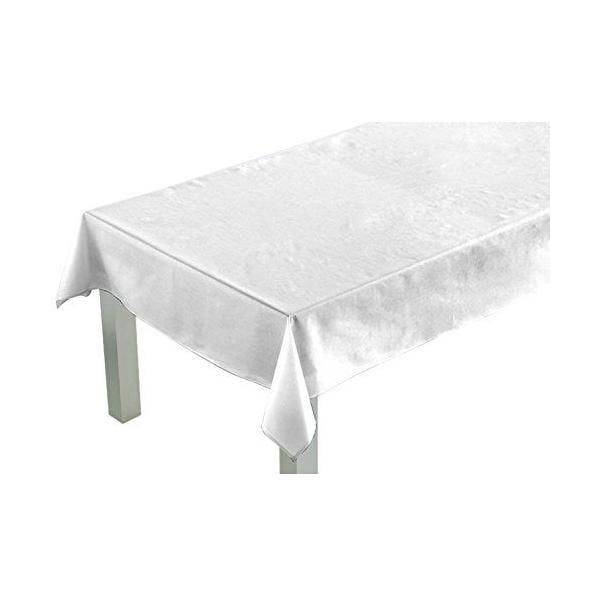 Nappe carrée blanc 180x180x0,5 cm - comptoir du linge (photo)
