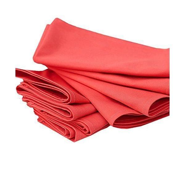 Set de 12 serviettes de table 45x45cm coton corail - linenme (photo)