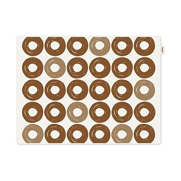 Set de table motif anneaux plastique marron 40x30x10 cm - jay - contento (photo)